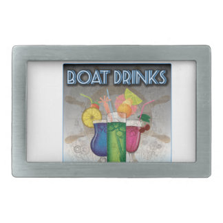 Boat Drinks Rectangular Belt Buckle