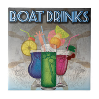Boat Drinks Tile