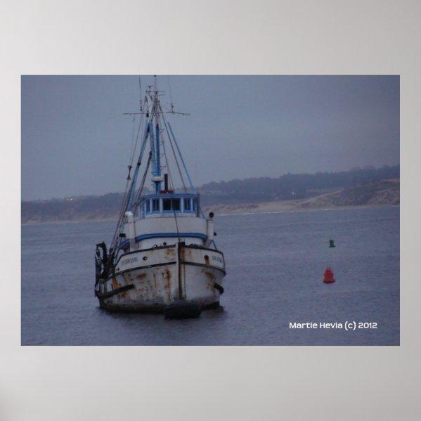 Boat on Monterey Bay zazzle_print