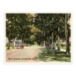 Boca Grande, Gasparilla Island vintage street Postcard