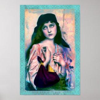 Bohemian Gypsy Girl Print print