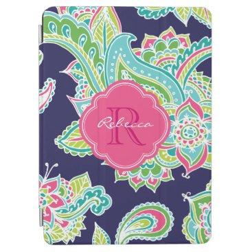 Bohemian Paisley Custom Monogram iPad Air Cover