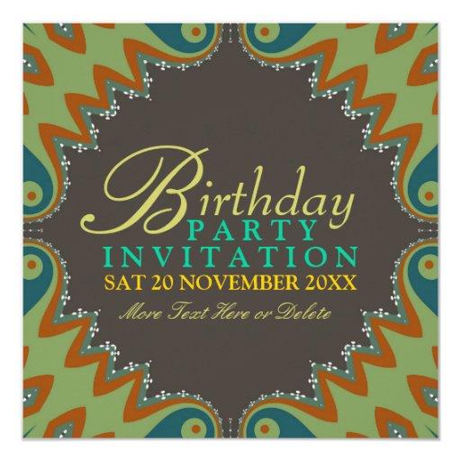 Bohemian Tribal Birthday Party Invitations