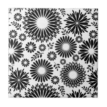 black flower pattern decorative ceramic
