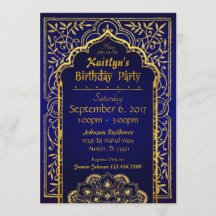 indian birthday invitations zazzle