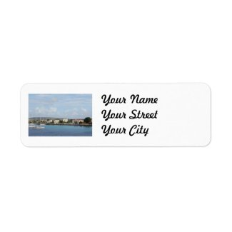 Bonaire Kralendijk Harbor Sailing Boats Custom Return Address Label