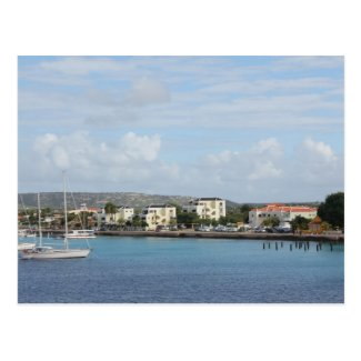 Bonaire Kralendijk Harbor Sailing Boats Postcards