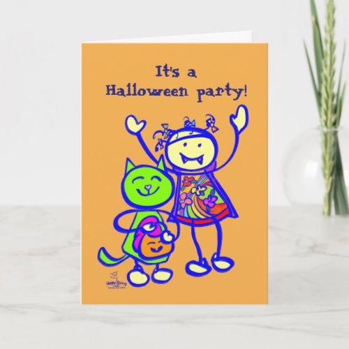 Boo! Halloween party invitation for kids