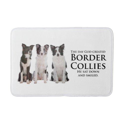 Border Collie Bath Mat