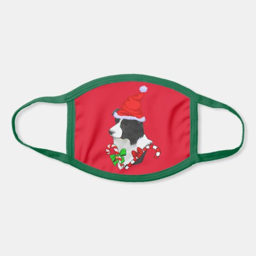 Border Collie Christmas Face Mask