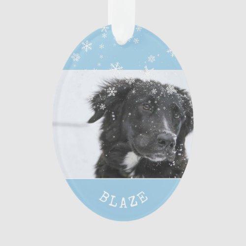 Border Collie Christmas Personalized Pet Photo Ornament