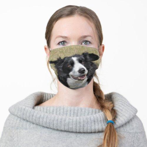 Border collie cloth face mask