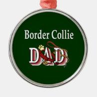 Border Collie Dad Christmas Tree Ornament