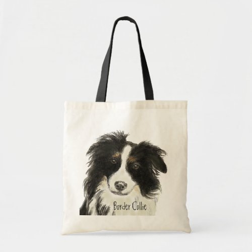 Border Collie Dog o Tote Bag
