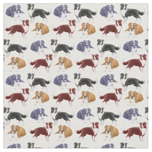 Border Collie Herding Dogs Fabric