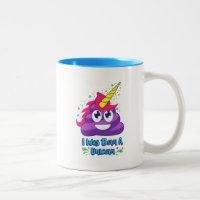 Born Unicorn Emoji Poop Two-Tone Coffee Mug