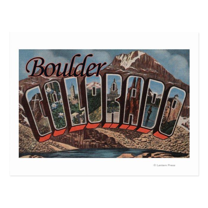 Boulder Colorado Large Letter Scenes Postcard Zazzle
