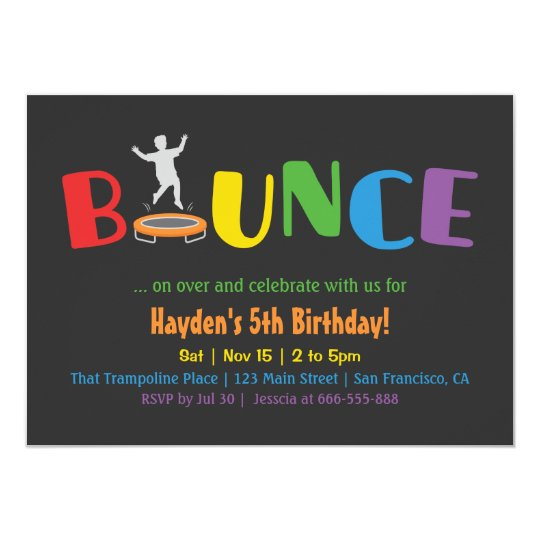Birthday Invitations Jump