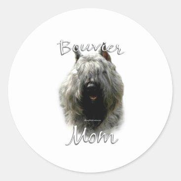 Bouvier des Flandres Mom 2 Classic Round Sticker