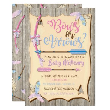 Bow or Arrows Gender Reveal Baby Shower Card
