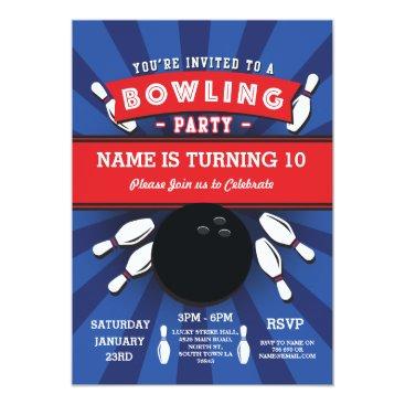 Bowling Birthday Party Tenpin Lucky Strike Invite