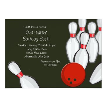 Bowling Night Invitation