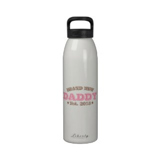 Brand New Daddy Est. 2013 (Pink) Water Bottles