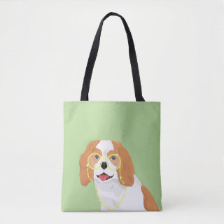 Brandy The Blenheim Cavalier King Charles Spaniel Tote Bag