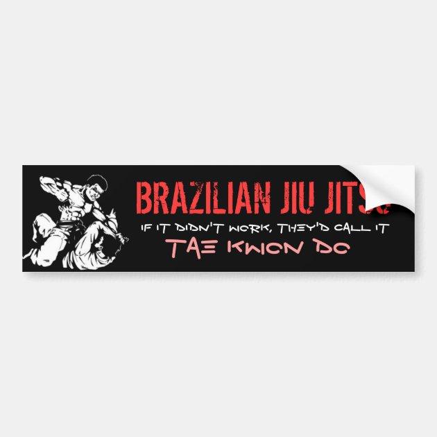 BRAZILIAN JIU JITSU BUMPER STICKER   Zazzle