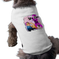 Breast Cancer Awareness Month, Rosie the Riveter Doggie Tee