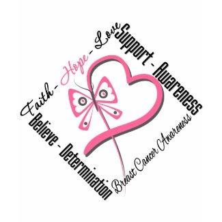 Breast Cancer Faith Hope Love shirt