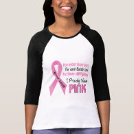Breast Cancer I Proudly Wear Pink 1 T Shirts