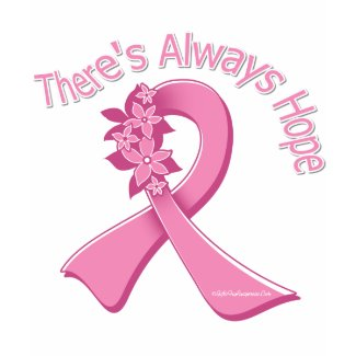Breast Cancer There's Always Hope Floral shirt