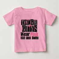 Breast Cancer Tough Guys Wear Pink Tee Shirts