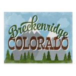 Breckenridge Colorado Fun Retro Snowy Mountains Postcard