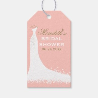 Bridal Shower Favor Tags | Wedding Gown Pack Of Gift Tags