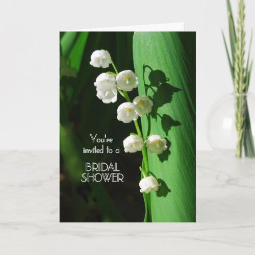Bridal Shower Invitation Lily of the Valley card