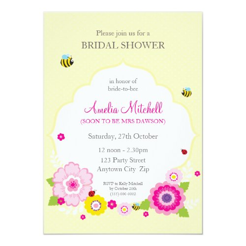 BRIDAL SHOWER INVITES :: garden theme 1