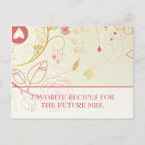 Bridal Shower Recipe Cards- Vintage Floral