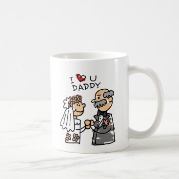 Bride And Father On Wedding Day Before Ceremony Coffee Mug