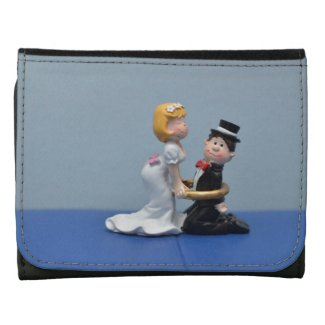 Bride and groom cake topper wallet