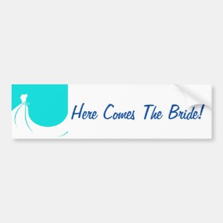 Bride Announcement Car Bumper Sticker