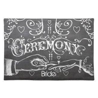 Bride's Chalkboard Modern Vintage Typography Place Mat
