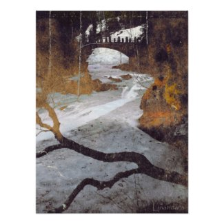 Bridge Over a Frozen Stream by Alexandra Cook print