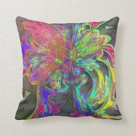 Bright Burst of Color – Salmon & Indigo Deva Throw Pillow