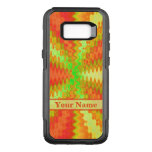 Bright Colorful Orange Yellow Green Abstract OtterBox Commuter Samsung Galaxy S8+ Case