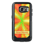 Bright Colorful Orange Yellow Green Abstract OtterBox Samsung Galaxy S7 Case