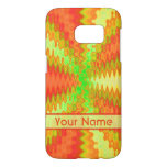 Bright Colorful Orange Yellow Green Abstract Samsung Galaxy S7 Case
