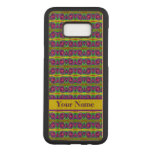 Bright colorful yellow purple curls pattern carved samsung galaxy s8+ case