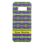 Bright colorful yellow purple curls pattern Case-Mate samsung galaxy s8 case